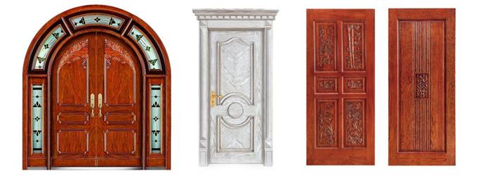 欧式风格的木门也如此,深色的整体风格,搭配复杂的表面花纹,图案,让